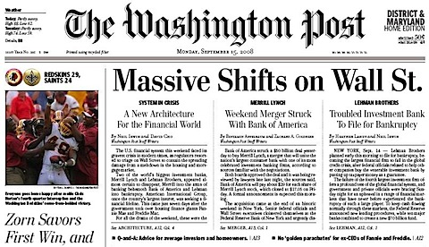 Post front page for September 15, 2008