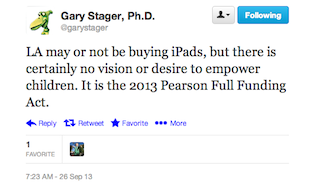 Stager Tweet