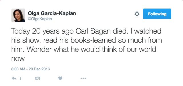 Sagan Tweet