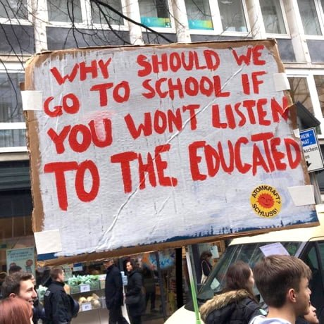 Sign with good question